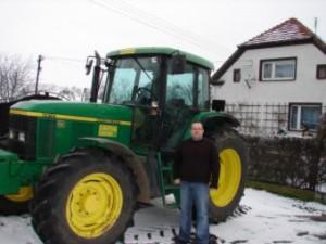 z traktorem