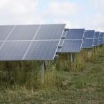 Wzgórza pól frankońskich porośnięte solarami