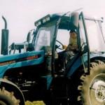 syn Tomek  już od małego miał zamiłowanie do rolnictwa