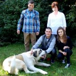 Państwo Justyna i Norbert Brambor z córką Żanetą i synem Sebastianem
